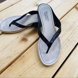 Franco Sarto patent sandals